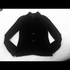 WHBM Black Dressy Sweater/Blazer